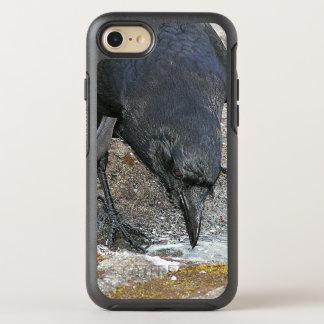 Foto preta do corvo capa para iPhone 7 OtterBox symmetry