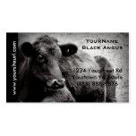 Foto preta do gado de Angus para o rancho ou a faz Cartoes De Visita