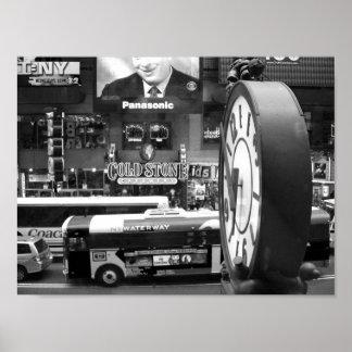 Foto preto e branco de NYC Poster