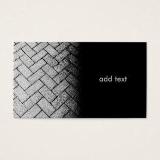 foto preto e branco de uma passagem do tijolo cartão de visitas