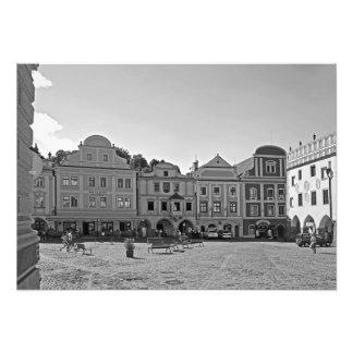 Foto Quadrado na cidade de Cesky Krumlov.