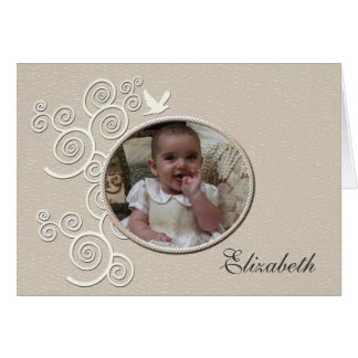 Foto religiosa Notecard da pomba do branco Cartão De Nota