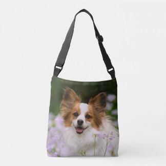 Foto romântica bonito de Potrait do cão de Bolsas Carteiro