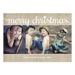 Foto rústica do Feliz Natal de serapilheira Convites