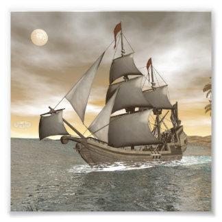 Foto Sair do navio de pirata - 3D rendem