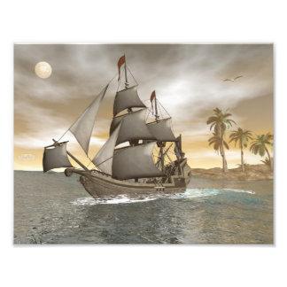 Foto Sair do navio de pirata - 3D render.j
