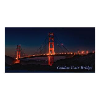 Foto San Francisco lindo golden gate bridge na noite