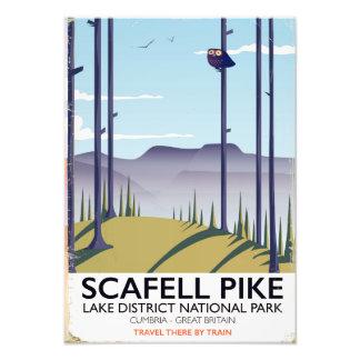 Foto Scafell Pike, Cumbria, poster das viagens vintage