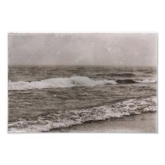 Foto Seascape da linha costeira da praia do vintage do