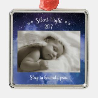 Foto silenciosa da noite - ornamento quadrado