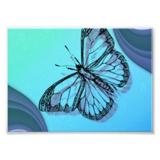 Foto Silhueta da borboleta