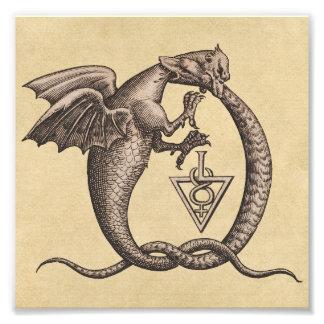 Foto Símbolos de Mercury do enxofre do cobra do dragão