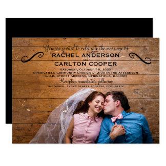 Foto simples - convite do casamento 3x5