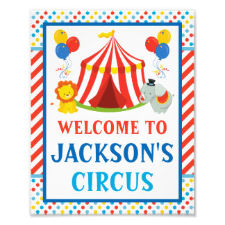 Foto Sinal de boas-vindas do circo • impressão 8 x 10
