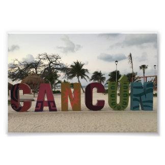 Foto Sinal de Cancun - Playa Delfines, impressão da