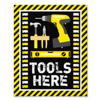 Foto Sinal dos utensílios da construção • impressão 8 x