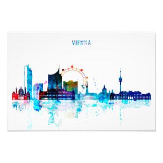 Foto Skyline de Viena, arte da aguarela de Áustria