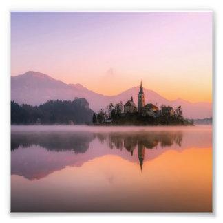 Foto Slovenia sangrado no por do sol