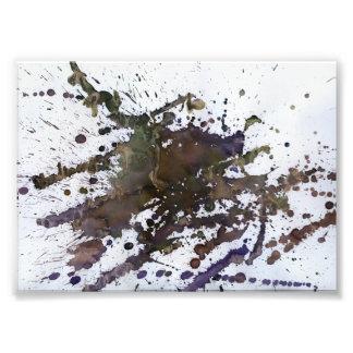 Foto Splatter abstrato em Brown