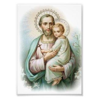 Foto St Joseph & criança tradicionais Jesus com cruz