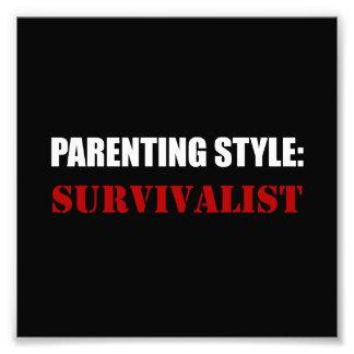 Foto Survivalist do estilo da parentalidade