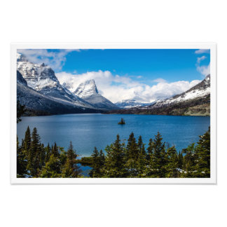 Foto TA do parque nacional de geleira do lago st Mary