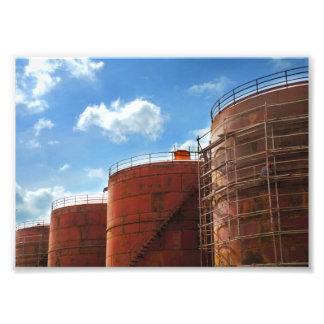 Foto tanque de óleo