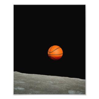 Foto terra do basquetebol do universo do espaço da lua
