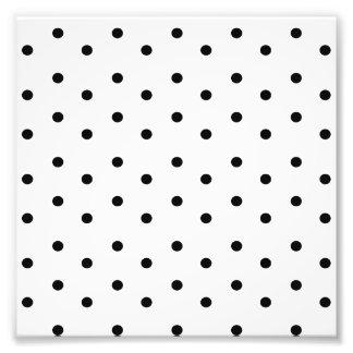 Foto Teste padrão de bolinhas preto e branco