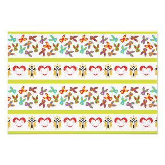 Foto Teste padrão psicótico da páscoa colorido