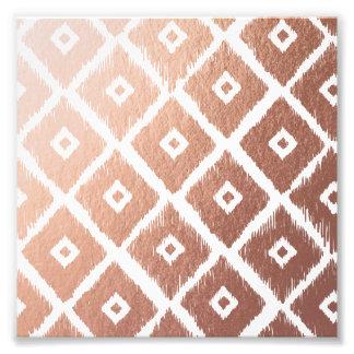 Foto Teste padrão tribal cor-de-rosa da folha de ouro
