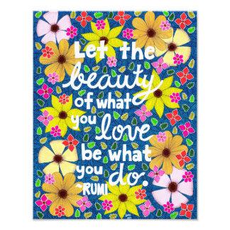 Foto Tipografia de inspiração floral colorida das