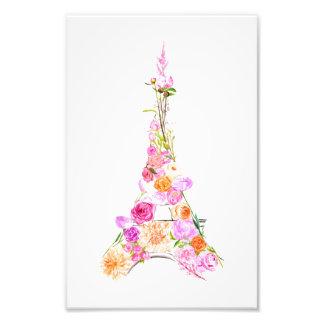 Foto Torre Eiffel floral