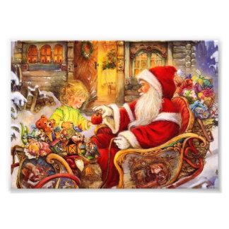 Foto Trenó do papai noel - ilustração de Papai Noel