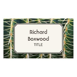 Foto tropical do cacto customizável cartão de visita