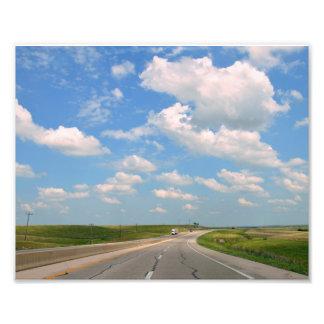 Foto Turnpike de Kansas através das colinas 8x10 do