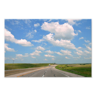 Foto Turnpike de Kansas através das colinas do sílex