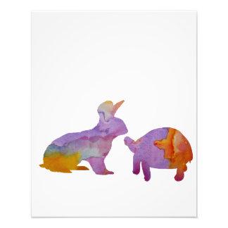 Foto Um coelho e uma tartaruga