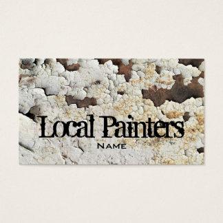 Foto velha da textura da pintura cartão de visitas