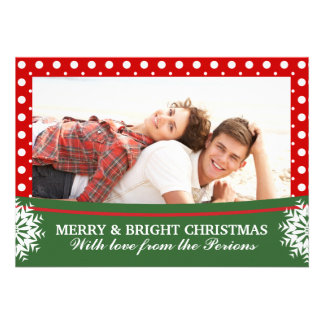 Foto verde branca vermelha de Groupon do Natal das Convites Personalizados