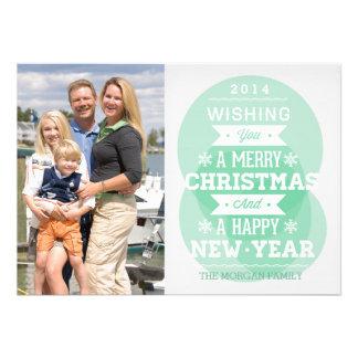 Foto verde do feriado do Natal da tipografia da Convite