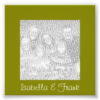 Foto verde-oliva do quadro impressão de foto