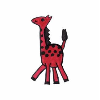 Foto vermelha do girafa escultura de fotos