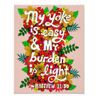 Foto Verso da bíblia da tipografia do Doodle das flores