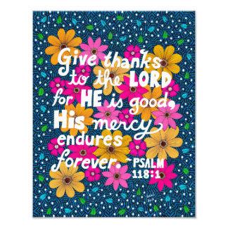 Foto Verso floral colorido bonito da bíblia da acção de
