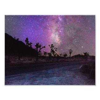 Foto Via Láctea do parque nacional de árvore de Joshua