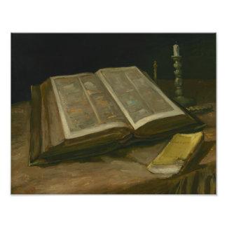 Foto Vincent van Gogh - ainda vida com bíblia