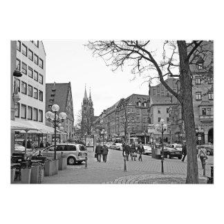 Foto Vista da rua de Königsstraße em Nuremberg
