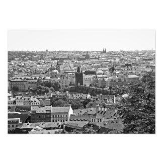 Foto Vista de Praga. Ponte de Vltava e de Charles