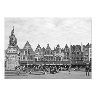 Foto Vista do Grote Markt em Bruges